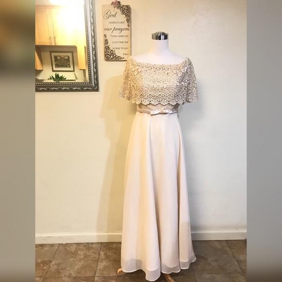 Mauarte Dresses | Filipiniana Chiffon Off Should Long Evening Gown ...